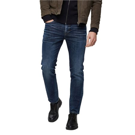 Selected Homme Dark Blue Leon 6144 Slim Fit Jeans  - Click to view a larger image