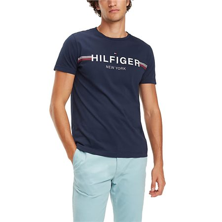74394c23b Tommy Hilfiger Logo Crew Neck T-Shirt - Click to view a larger image