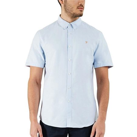 Farah Sky Blue Brewer Short Sleeve Shirt  - Click to view a larger image