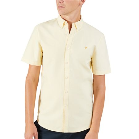 Farah Acid Yellow Brewer Short Sleeve Shirt  - Click to view a larger image