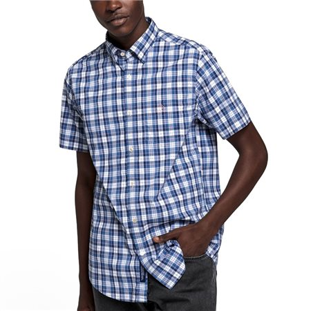 Gant Regular Fit Tech Prep Short Sleeve Broadcloth Check Shirt  - Click to view a larger image