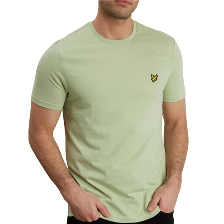 Lyle & Scott Seamfoam Green Plain Crew Neck T-Shirt  - Click to view a larger image