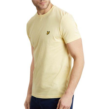 Lyle & Scott Vanilla Cream Plain Crew Neck T-Shirt  - Click to view a larger image