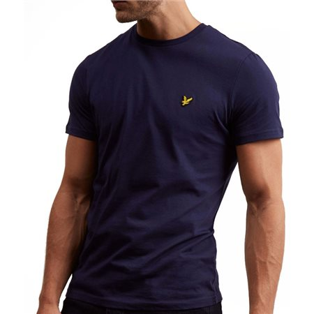 Lyle & Scott Navy Plain Crew Neck T-Shirt  - Click to view a larger image