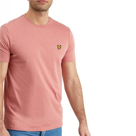 Lyle & Scott Pink Shadow Plain Crew Neck T-Shirt  - Click to view a larger image