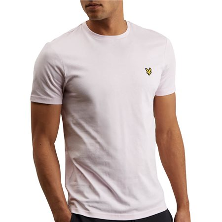 Lyle & Scott Dusty Lilac Plain Crew Neck T-Shirt  - Click to view a larger image