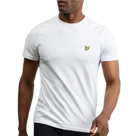Lyle & Scott White Plain Crew Neck T-Shirt  - Click to view a larger image