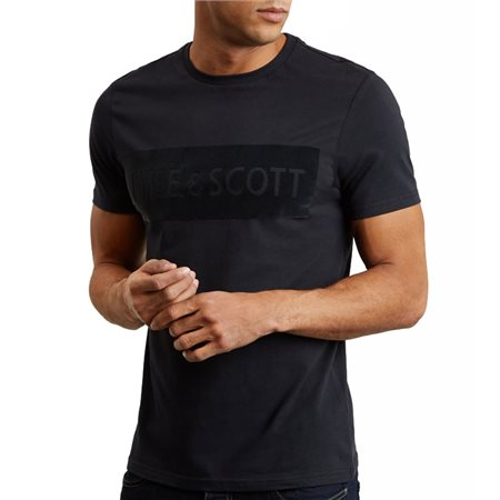 Lyle & Scott Flock Logo T-Shirt  - Click to view a larger image