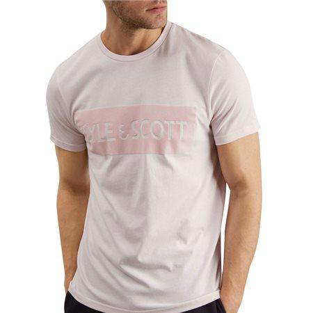 Lyle & Scott Flock Logo T-Shirt  - Click to view a larger image