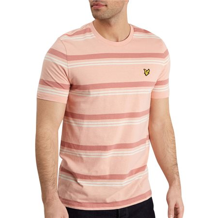 Lyle & Scott Coral Way Stripe T-Shirt  - Click to view a larger image