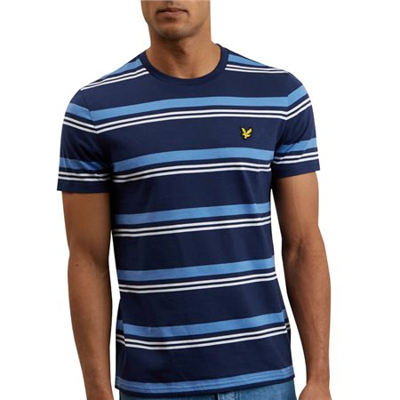 Lyle & Scott Navy Stripe T-Shirt  - Click to view a larger image