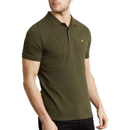 Lyle & Scott Dark Sage Plain Polo Shirt  - Click to view a larger image