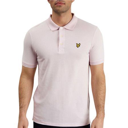 Lyle & Scott Dusty Lilac Plain Polo Shirt  - Click to view a larger image