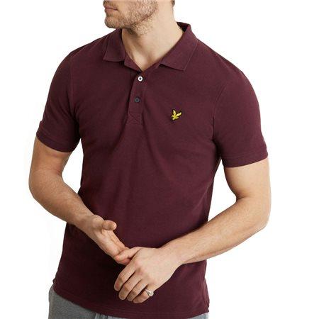 Lyle & Scott Burgundy Plain Polo Shirt  - Click to view a larger image
