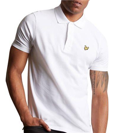 Lyle & Scott White Plain Polo Shirt  - Click to view a larger image