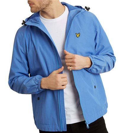 Lyle & Scott Cornflower Blue Zip Through Hooded Jacket  - Click to view a larger image