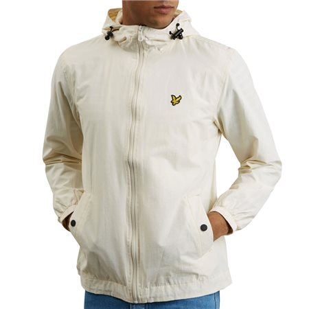 Lyle & Scott Snow White Zip Through Hooded Jacket  - Click to view a larger image