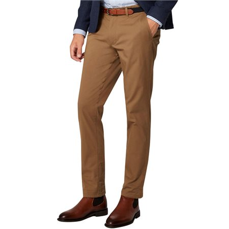 Selected Homme Dark Camel Yard Slim Fit Chinos  - Click to view a larger image