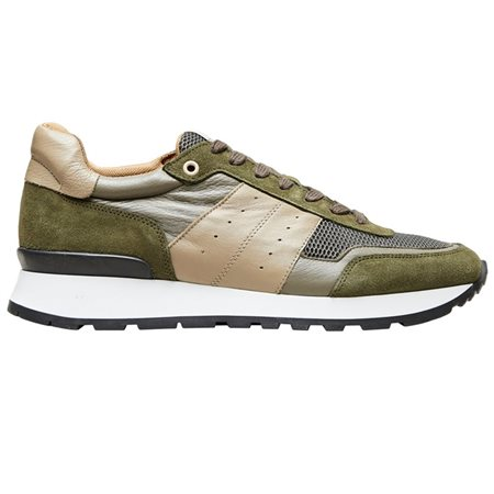 Selected Homme Olive Green Frank Suede Trainer  - Click to view a larger image