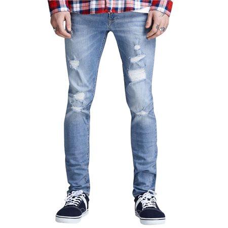 Jack & Jones Intelligence Blue Denim Liam 793 Skinny Fit Jeans  - Click to view a larger image