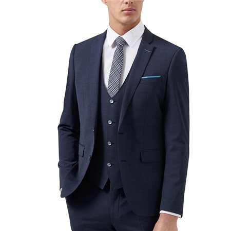 Remus Uomo Navy Uomo Lazio 3-Piece Wool Suit  - Click to view a larger image