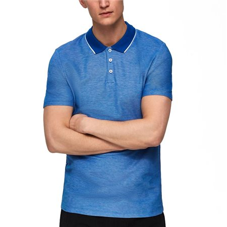 Selected Homme Turkish Sea Tyron Organic Cotton Polo Shirt  - Click to view a larger image