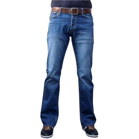 Jack & Jones Intelligence  Blue Denim Jake 780 Bootcut Jeans  - Click to view a larger image