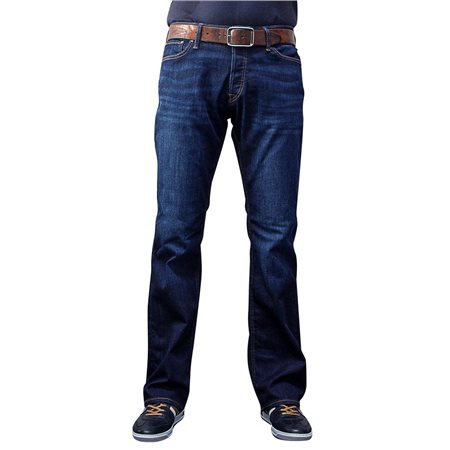 Jack & Jones Intelligence Blue Denim Jake 777 Bootcut Jean  - Click to view a larger image