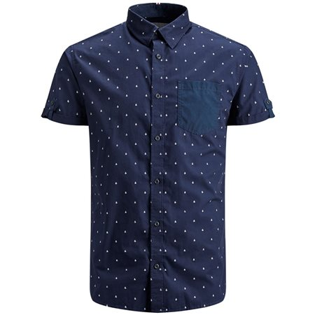 Jack & Jones Core And Printed Short Sleeve Shirt  - Click to view a larger image