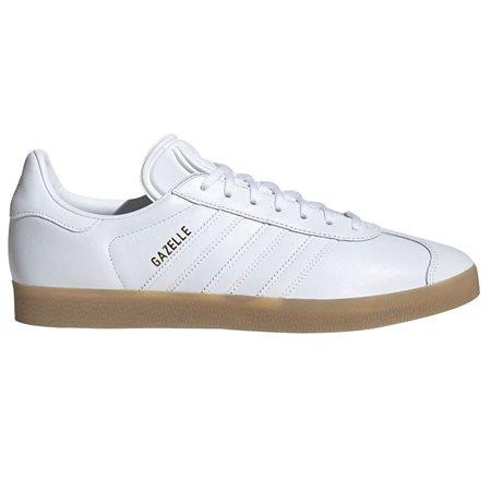 adidas Originals White/Gum Gazelle Trainers  - Click to view a larger image