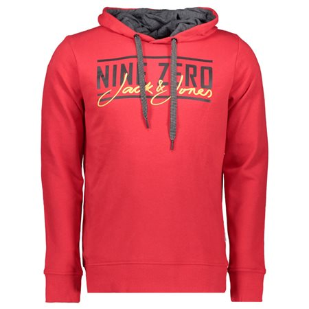 Jack & Jones Core Chinese Red Sweat Hoodie  - Click to view a larger image