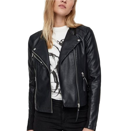 Vero Moda Black Leather Look Jacket  - Click to view a larger image