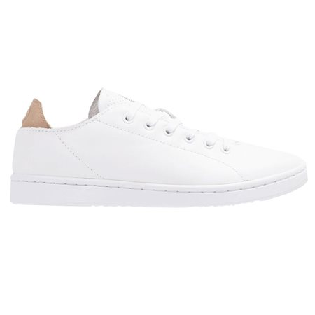 Woden White Jane Leather Trainer  - Click to view a larger image