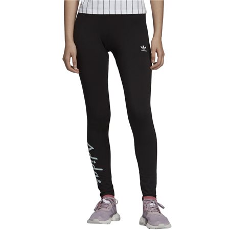adidas Originals Black Logo Leggings  - Click to view a larger image