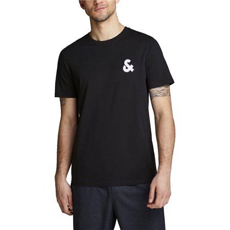Jack & Jones Essentials Black Logo T-Shirt  - Click to view a larger image