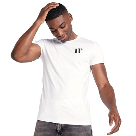 11 Degrees White Core Muscle Fit T-Shirt  - Click to view a larger image