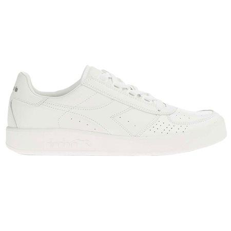 Diadora White Optical B. Elite Sports Shoes  - Click to view a larger image