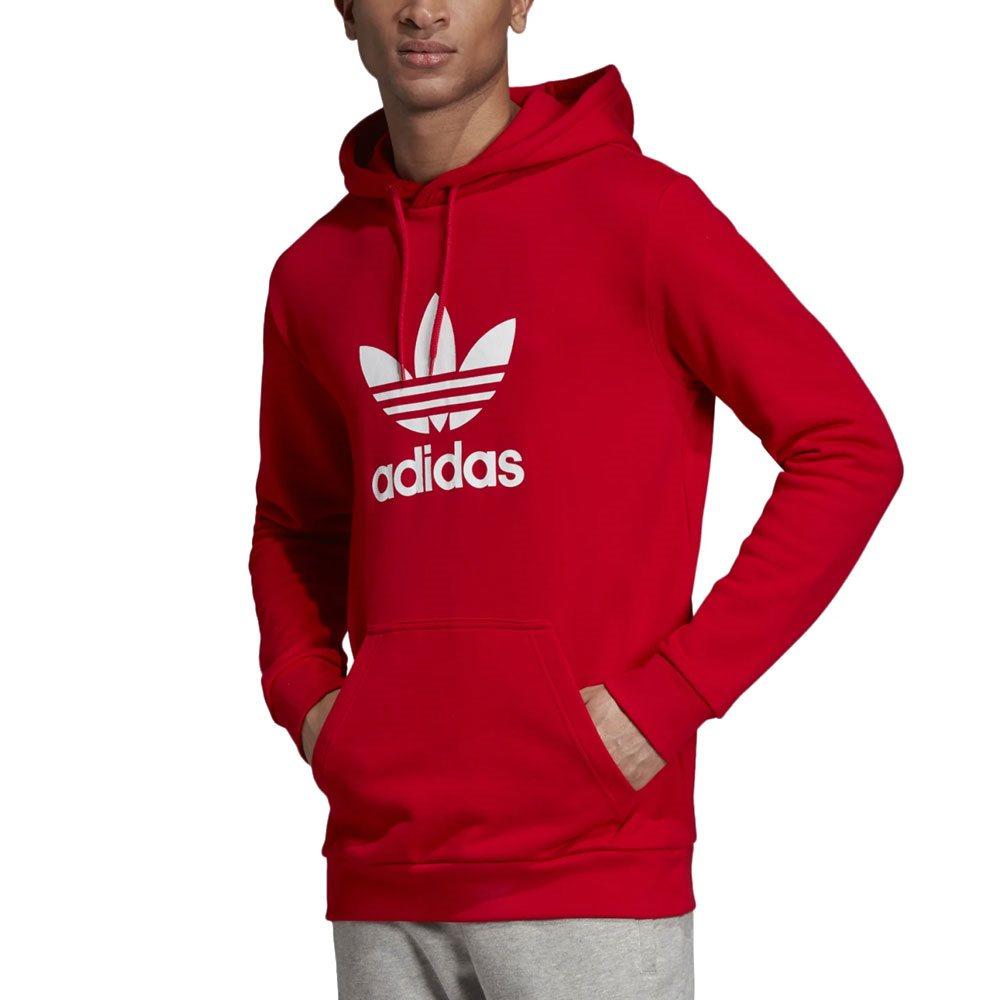 Red Trefoil Hoodie L