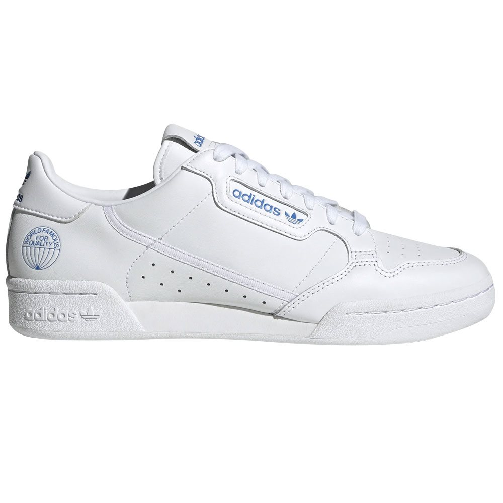 White / Blue Continental 80 Trainers
