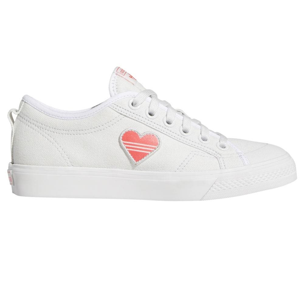adidas Originals Crystal White Nizza Trefoil Trainers 1