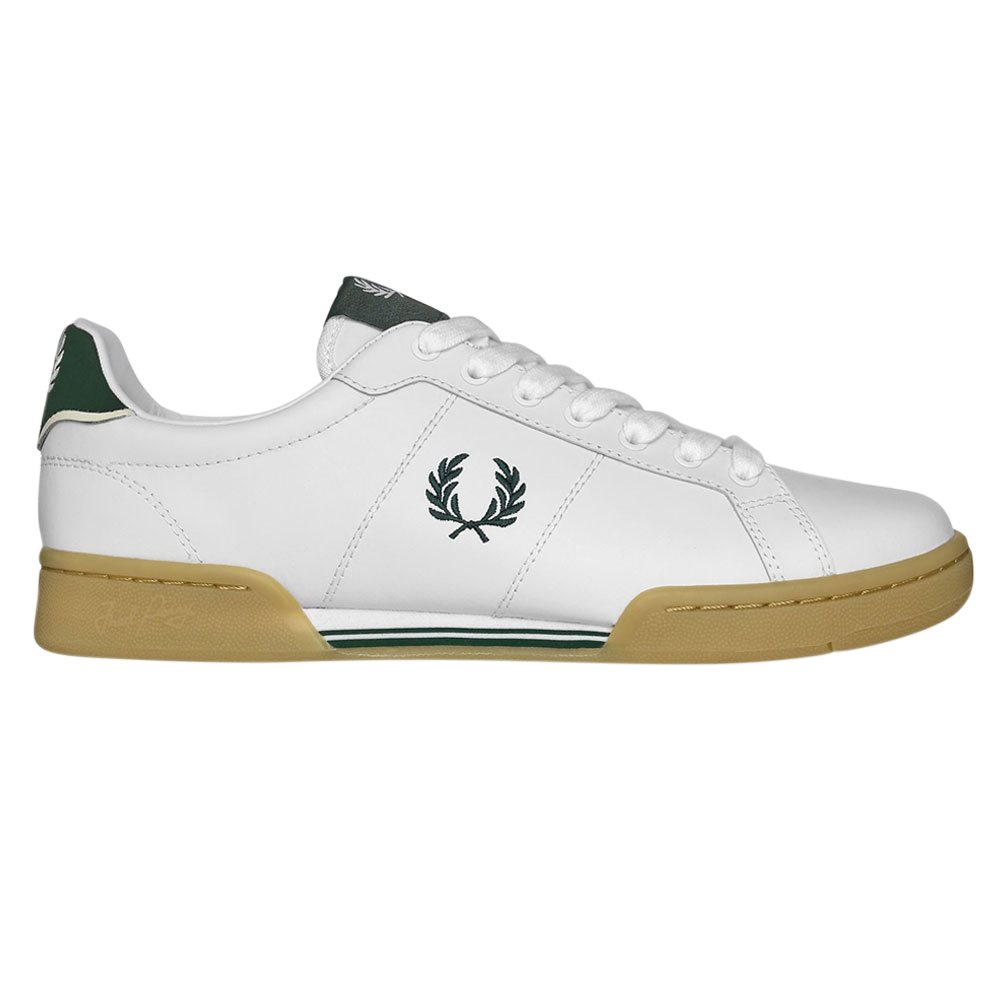 White B722 Leather Trainer - 7