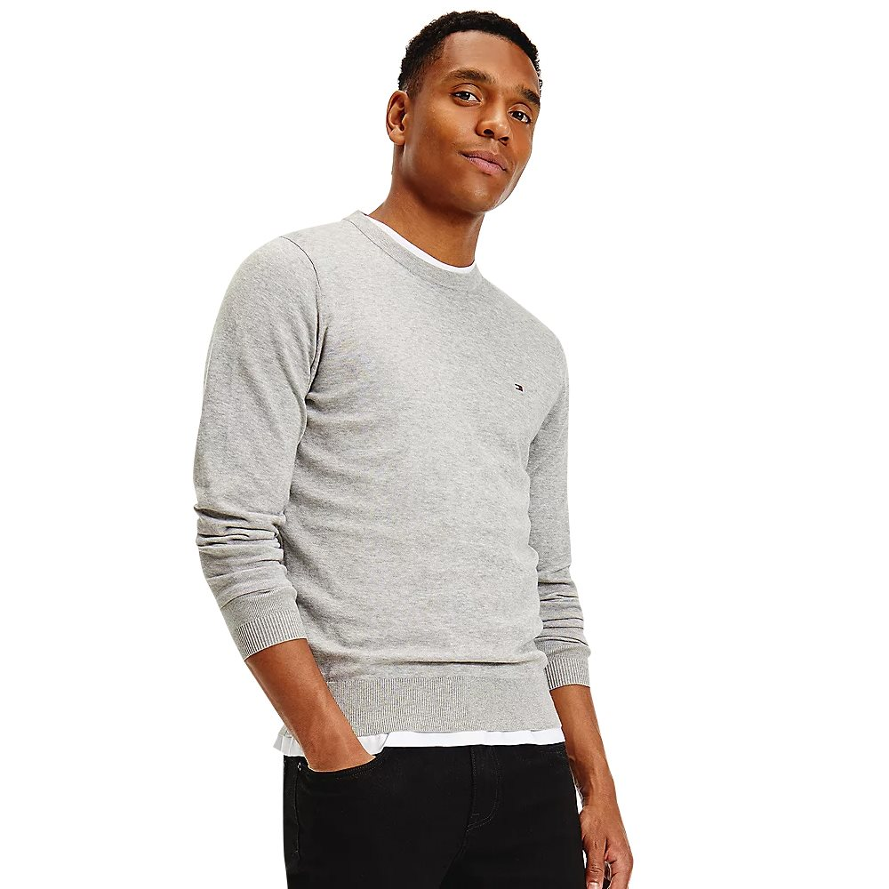 Tommy Hilfiger Grey Regular Fit Crew Neck Jumper 1