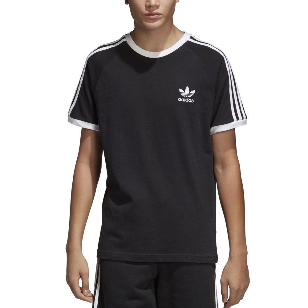 3b2bb4b3 adidas Originals Black 3-Stripes T-Shirt - Click to view a larger image