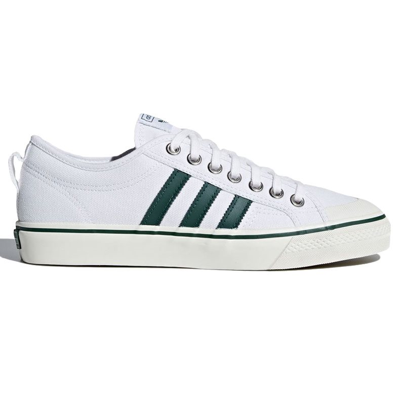 size 40 ade5a 2056c adidas Originals White Green Nizza Lo Trainer - Click to view a larger image
