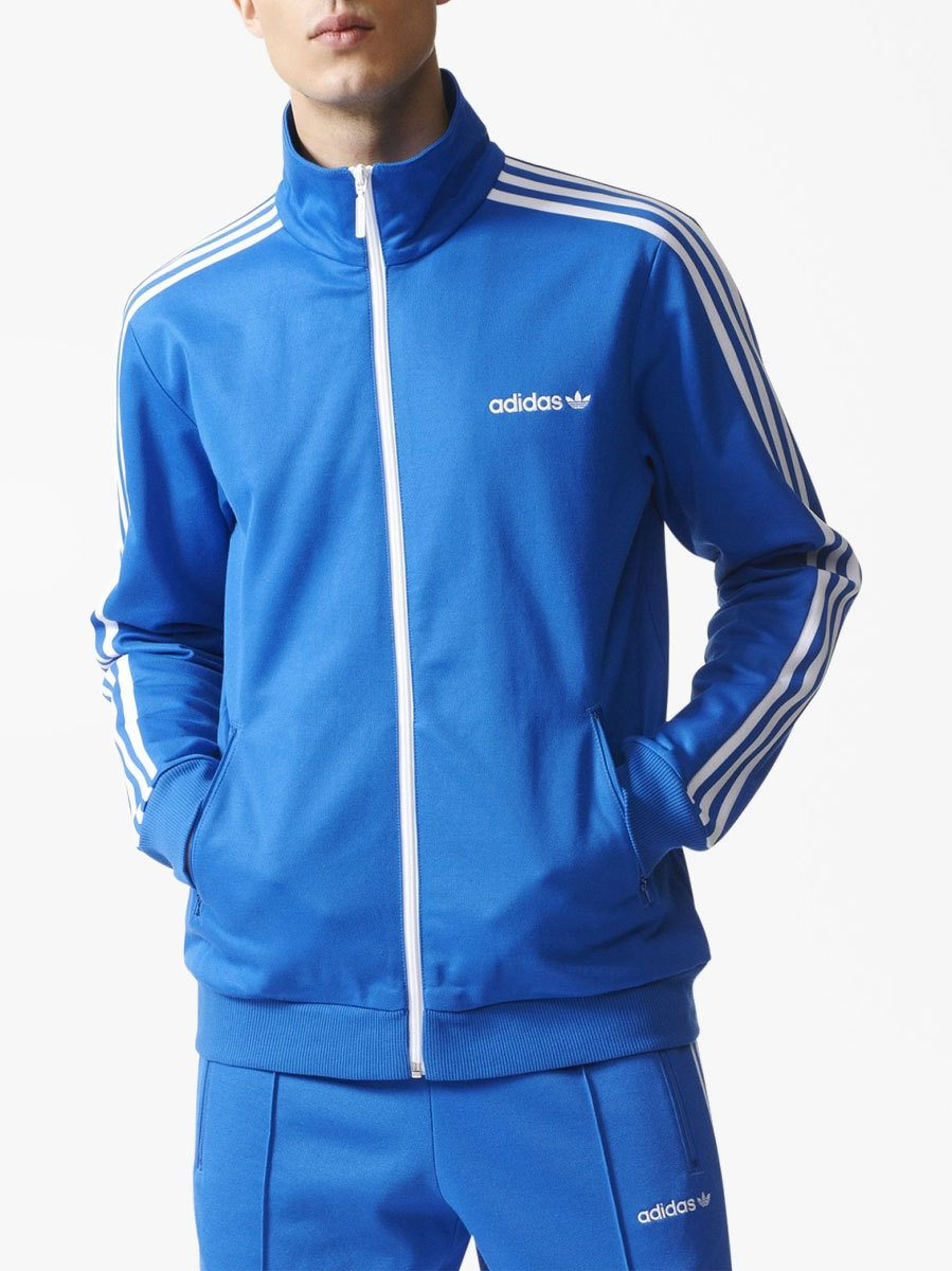 2aee10c2e6b668 adidas Originals Blue Bb Track Jacket - Click to view a larger image