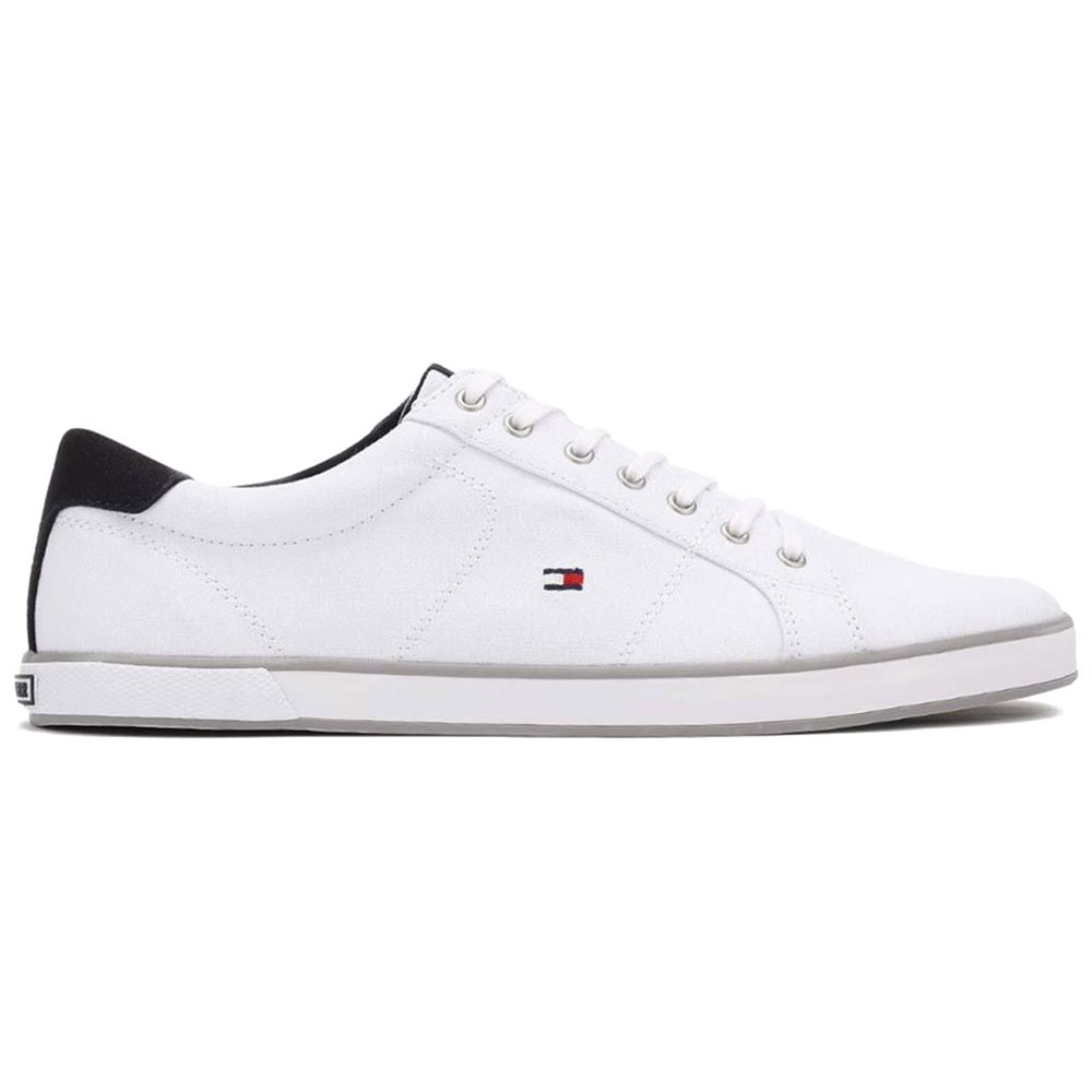 White Harlow 1d Canvas Lace Up Trainers 7