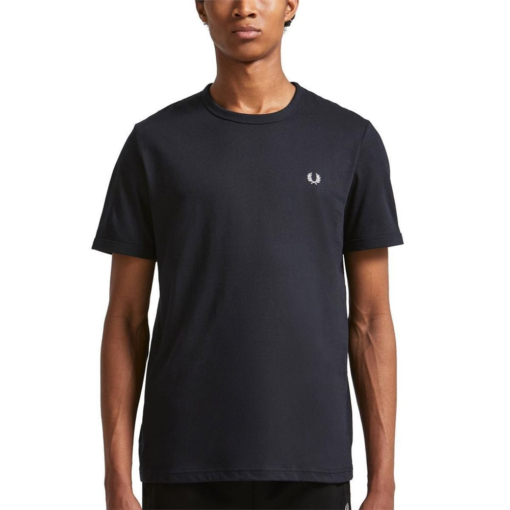 Fred Perry Navy Ringer T-Shirt 1