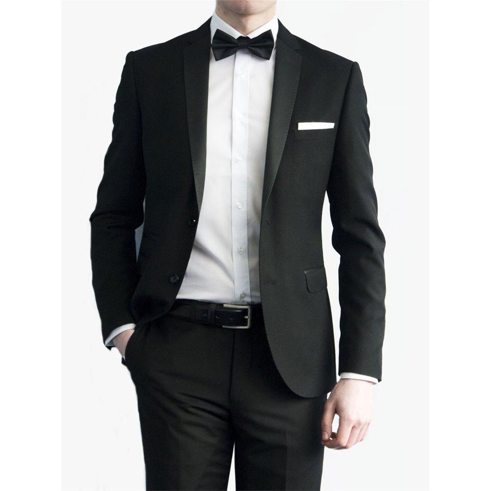 Lambretta Black Slim Fit Tuxedo Jacket
