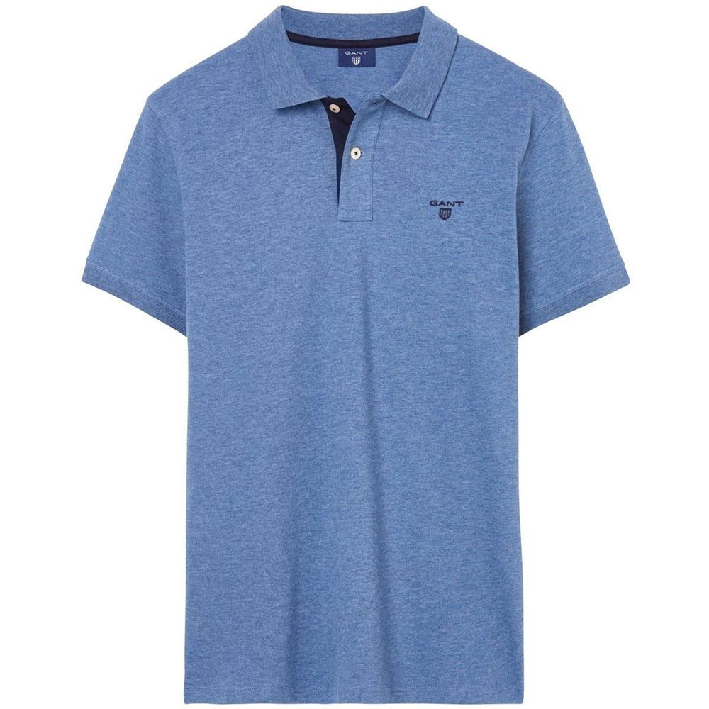 8528d2a7399d Gant Contrast Collar Piqué Rugger Polo - Click to view a larger image