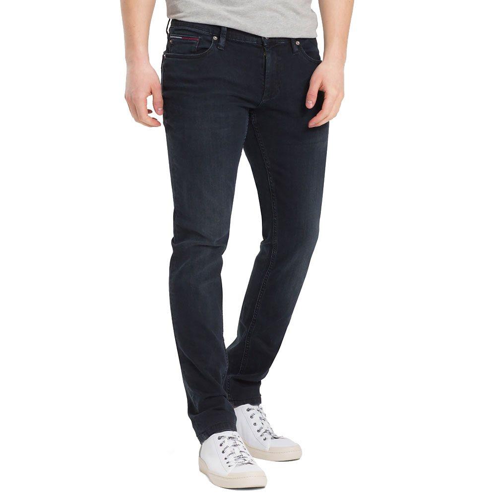 Professionel stylistisches Aussehen Luxus-Ästhetik Cobble Black Dark Wash Scanton Slim Fit Jeans - 28S